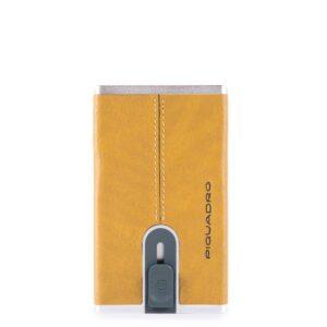 Porta carte sliding system Black Square Piquadro